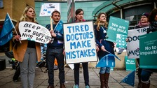 Junior doctors have staged several strikes over the contract.