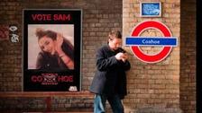Vote Sam posters have been put up around Coxhoe