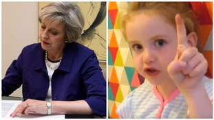 Five-year-old gives Theresa May a telling-off about the homeless