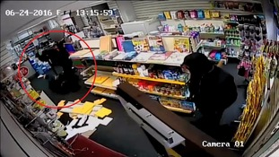 CCTV of violent post office robbery released