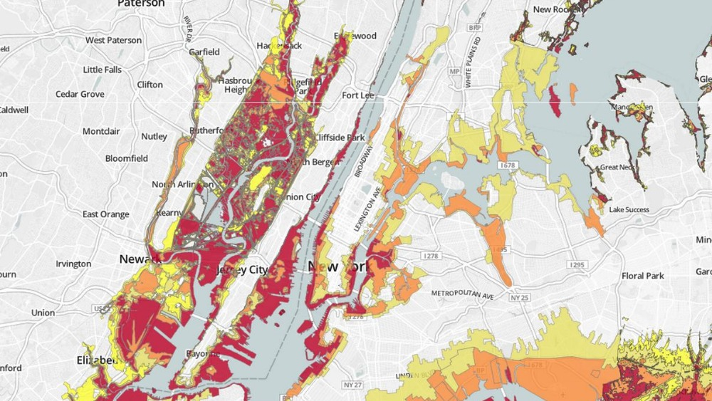 Map Shows Flood Risk Zones Up And Down Us East Coast Itv