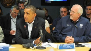 President Obama at a FEMA briefing on Sunday.