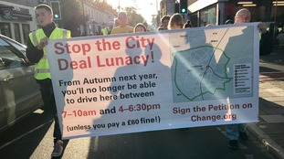 "Protestors march against traffic plan ""lunacy"""