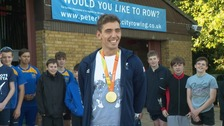 James Fox poses with his gold medal.