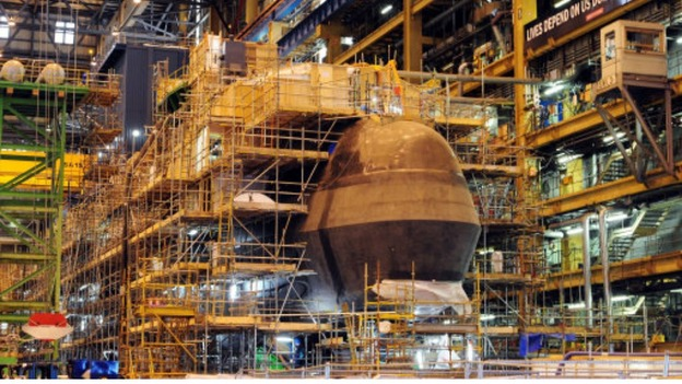 Submarine being built
