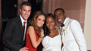 Fabrice Muamba wedding Robin Van Persie