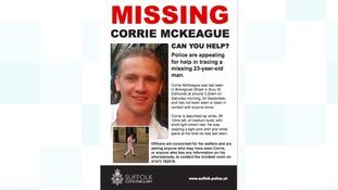 Corrie McKeague was last seen on Saturday 24 September