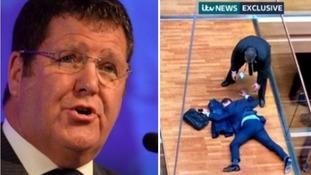 Mike Hookem and the picture from inside the European Parliament