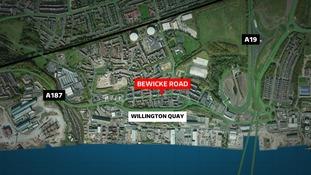 Willington Quay map