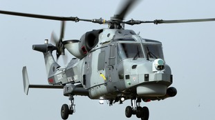 Royal Navy Wild Cat helicopter