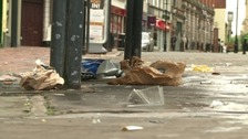 Litter left on streets in Derby this weekend