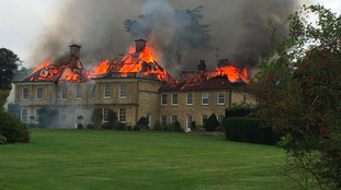 A major fire has broken out at Cosgrove Hall, Northamptonshire