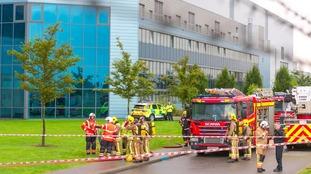 Fire crews on the scene