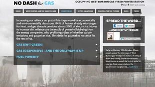 The protesters website