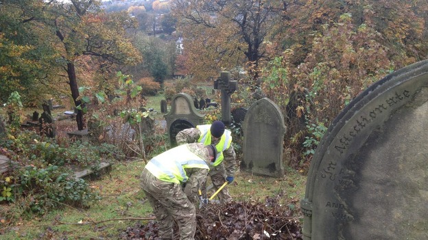 The clear-up has been organised by the Friends of Blackburn Old Cemetery