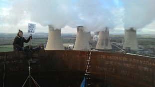 Protesters say they could stay up the chimneys for 'up to a week'
