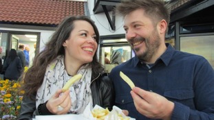 Northumberland couple send fish and chips 2000 miles from Seaton Sluice to Corfu!