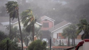Hurricane Matthew batters homes in Florida.