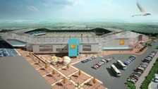 Image of what Sandy Park would look like after the expansion.