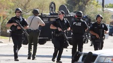 Armed police at the scene.