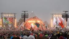 Crowds at Glastonbury's main stage