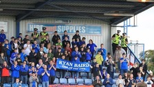The crowd applauded on the 39th minute to remember 39-year-old Ryan Baird