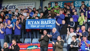 Both sets of fans paid tribute to Ryan Baird.
