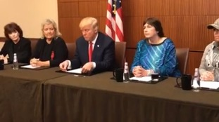 Trump holds presser with women accusing Bill Clinton of sexual misdeeds