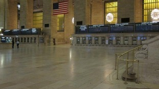 Grand Central Station emptied
