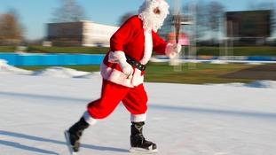 Christmas ice rink