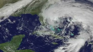 Satellite pictures of hurricane Sandy from NASA