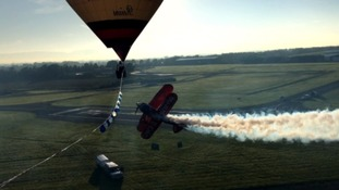 Stunt pilot claims world first at Gloucester Airport