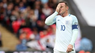 England captain Wayne Rooney is dropped by interim head coach Gareth Southgate