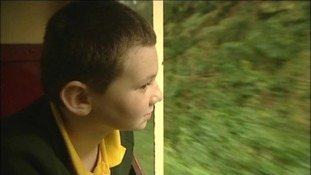 Jake Crocker, 10, found inspiration from the steam railway.