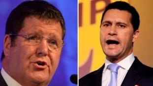 Mike Hookem, left, denies punching Steven Woolfe