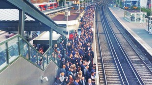 Chaos on trains as engineering work adds to strike disruption