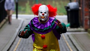 Police say there's been a rise in people dressing up as clowns like this