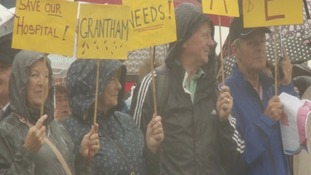 Campaigners fighting the temporary closure of Grantham A&E