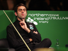 Ronnie O'Sullivan competing in the Northern Ireland Trophy at the Waterfront Hall in 2007.