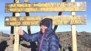 Stephen Sutton's mother reaches top of Mount Kilimanjaro in fundraising quest