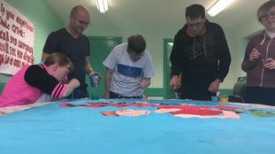 Carlisle Mencap members creating their artwork