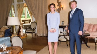 Duchess of Cambridge visits the Netherlands on first solo trip abroad