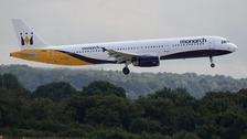 A Monarch plane