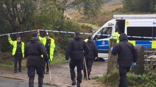 officers arriving at the scene at Tintwistle