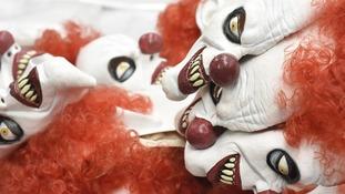 The 'killer clown' craze has swept Britain.