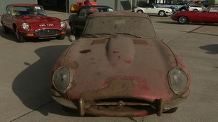 The car had been left to gather dust in a shed since 1975.