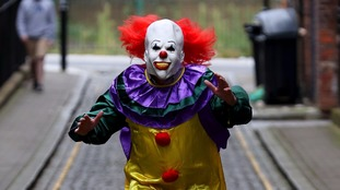 Police have warned that dressing up as a 'killer clown' could be classed as a public order offence.