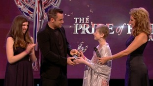 Alice Pyne wins Pride of Britain Award