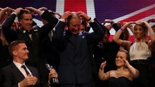 Prince Charles doing the Mobot