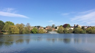 The Diss Mere in South Norfolk.